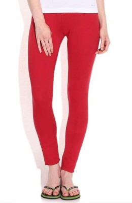 WellFitLook Girl's Red Leggings