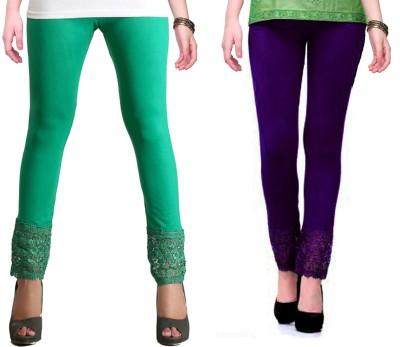 RobinRomeo Women's Purple, Green Leggings