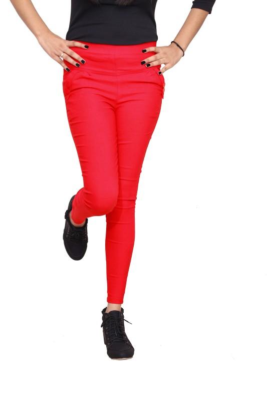 Xarans Women's Red Jeggings