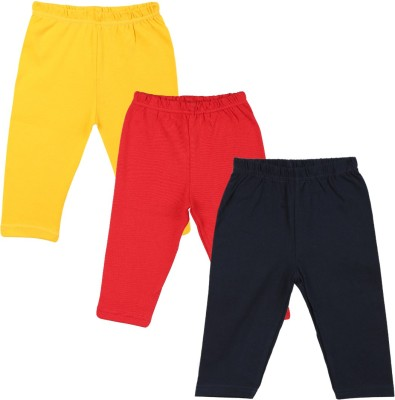 Color Fly Baby Girls Dark Blue, Red, Yellow Leggings