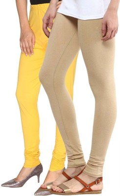 Butterfly Women's Yellow, Gold Leggings