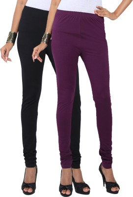 Fascino Women's Black, Purple Leggings