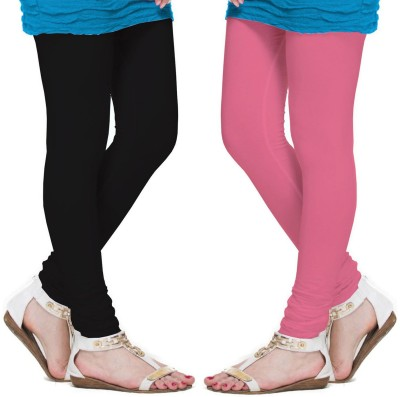 VP Vill Parko Women's Black, Pink Leggings