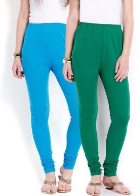 Ten on Ten Women's Blue, Green Leggings
