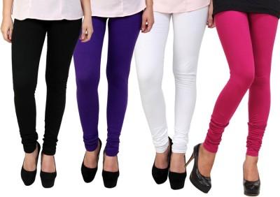 Dharamanjali Women's Black, Pink, Purple, White Leggings