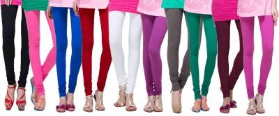 Apsn Retail Women's Black, Pink, Blue, Red, White, Brown, Grey, Dark Green, Maroon, Silver Leggings