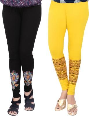T-BRO,S Enterprises Women's Black, Yellow Leggings