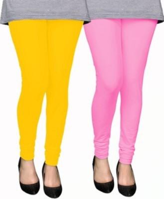 AbsoulteDesi Women's Yellow, Pink Leggings