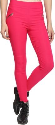 JUST CLIKK Women's Pink Jeggings
