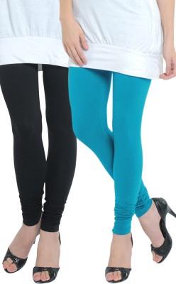 Tulsattva Women's Light Blue, Black Leggings