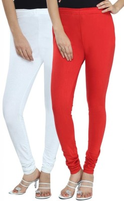 Ne Women's White, Red Leggings