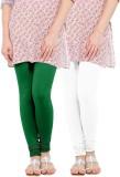 WellFitLook Women's Green, White Legging...