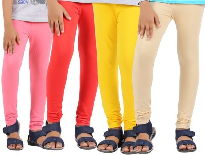 Greenwich Baby Girls Pink, Red, Yellow, Beige Leggings