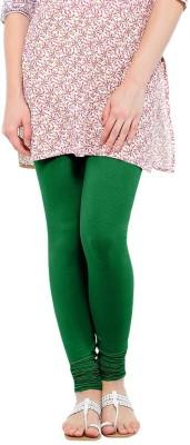 WellFitLook Women's Green Leggings at flipkart