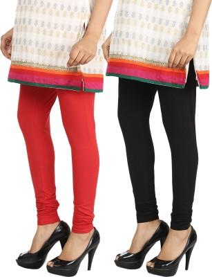Bodymist Women's Red, Black Leggings