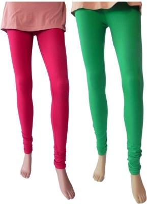 Nees Women's Pink, Green Leggings