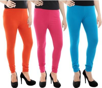 Paulzi Women's Orange, Pink, Blue Leggings