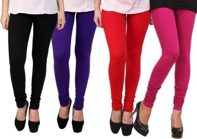 Dharamanjali Women's Black, Pink, Purple, Red Leggings