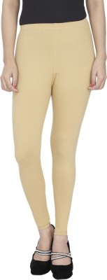 Anekaant Girl's Beige Leggings