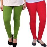 Ambitious Women's Green, Red Leggings (P...