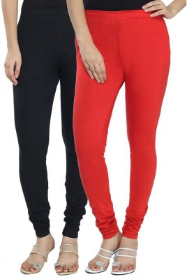NE Women's Black, Red Leggings