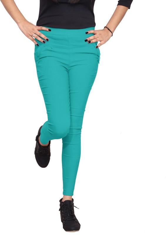 Xarans Women's Green Jeggings