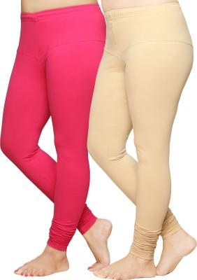 Pomelo Women's Pink, White Leggings