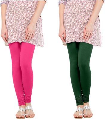 Oh Fish Women's Pink, Green Leggings