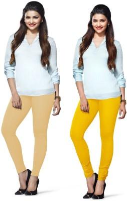 Amul Florio Women's Beige, Yellow Leggings