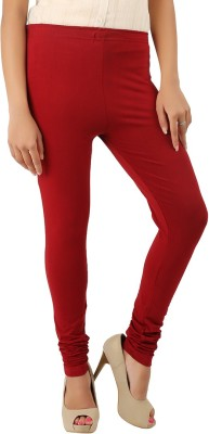 CURVIVA Women's Maroon Leggings