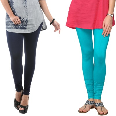 Fashionjackpot Women's Dark Blue, Light Blue Leggings