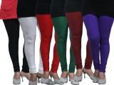 FnMe Women's Multicolor Leggings (Pack o...