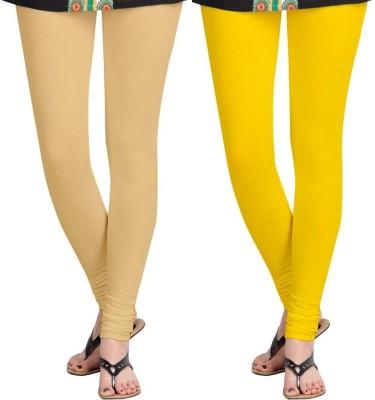 Roshni Creations Women,s Beige, Yellow Leggings