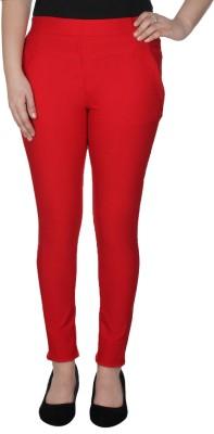 La-Paris Women's Red Jeggings