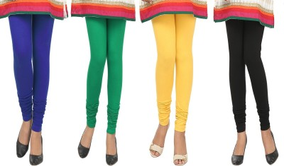 Agrima Fashion Women's Blue, Green, Yellow, Black Leggings