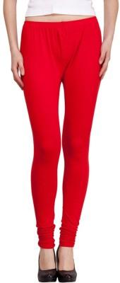 JUST CLIKK Women's Red Leggings