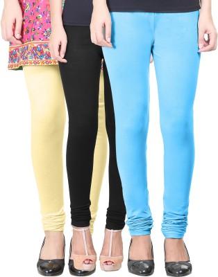 Eshelle Women's Black, Yellow, Light Blue Leggings