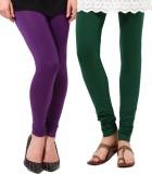 Famaya Women's Purple, Green Leggings (P...