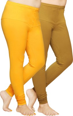 Pomelo Women's Orange, Yellow Leggings