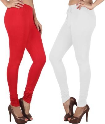 Danbro Women's White, Red Leggings