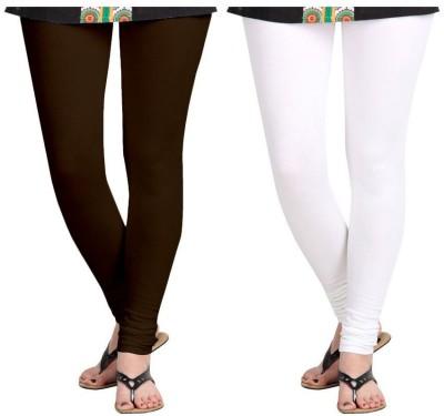 Roshni Creations Women's Brown, White Leggings