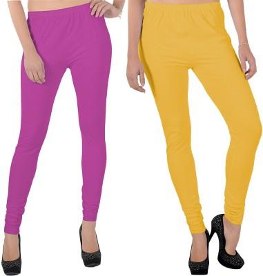 X-Cross Women's Pink, Yellow Leggings