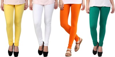 Legemat Girl,s Yellow, White, Orange, Green Leggings