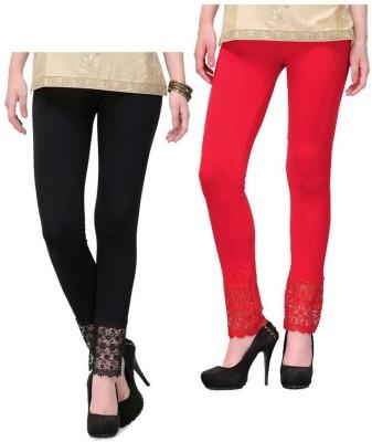 MDS Jeans Women's Black, Red Leggings