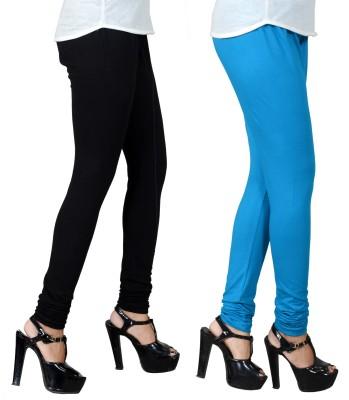 JSA Women's Black, Light Blue Leggings