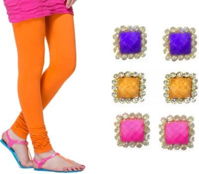 Gayatri Creations Women's Orange Leggings