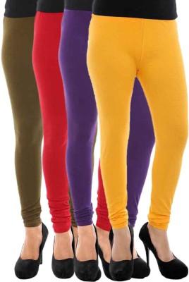 Paulzi Women's Brown, Red, Purple, Yellow Leggings