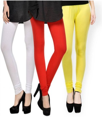 Fashion Zilla Women's White, Orange, Yellow Leggings
