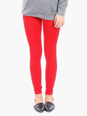 Sakal Enterprises Women's Red Leggings