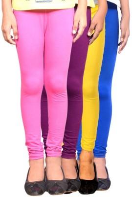 Roshni Creations Women's Pink, Purple, Yellow, Blue Leggings